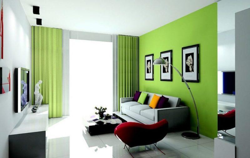 8. Màu sơn nhà đẹp: Sự pha trộn giữa màu xám và màu xanh lá