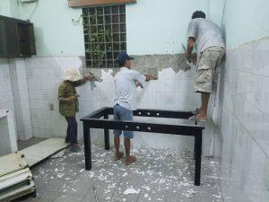 Ảnh thợ sơn sửa nhà tại quận 3 của hoàng hiệp