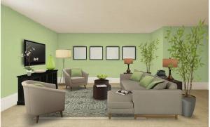 Ngôi nhà màu xanh lá hợp với người Mệnh Hoả