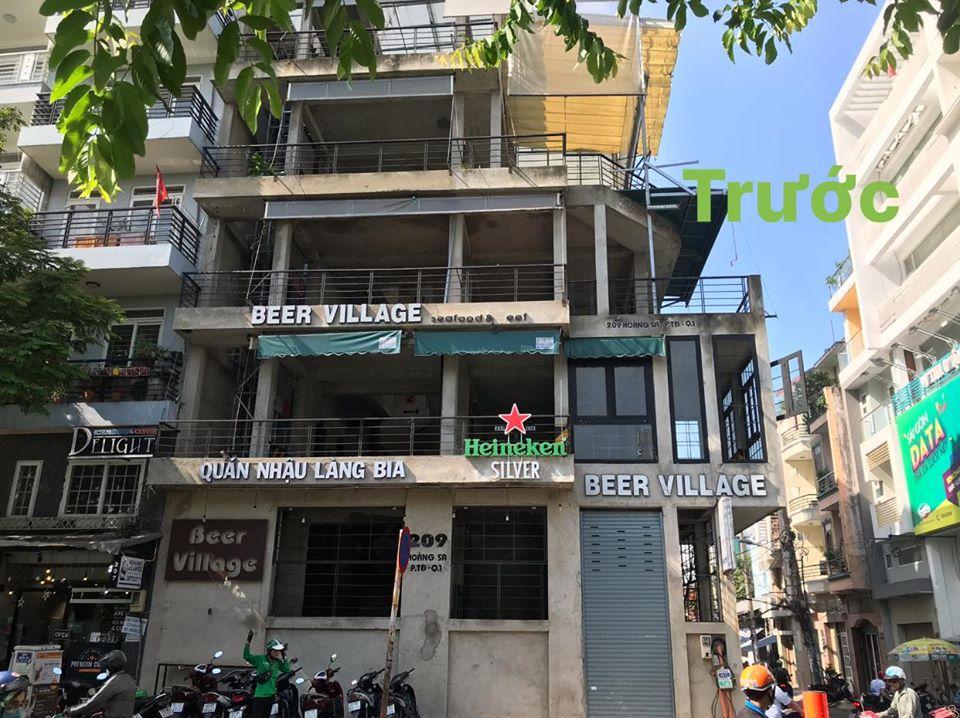 hình ảnh trước khi sơn nhà tại bar village quận 1( hình 2)