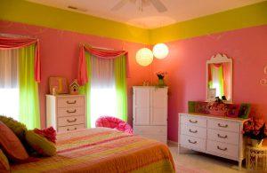 Mầu sơn nhà hợp gia chủ mệnh hỏa theo phong thủy mầu xanh lá mạ mầu hồng