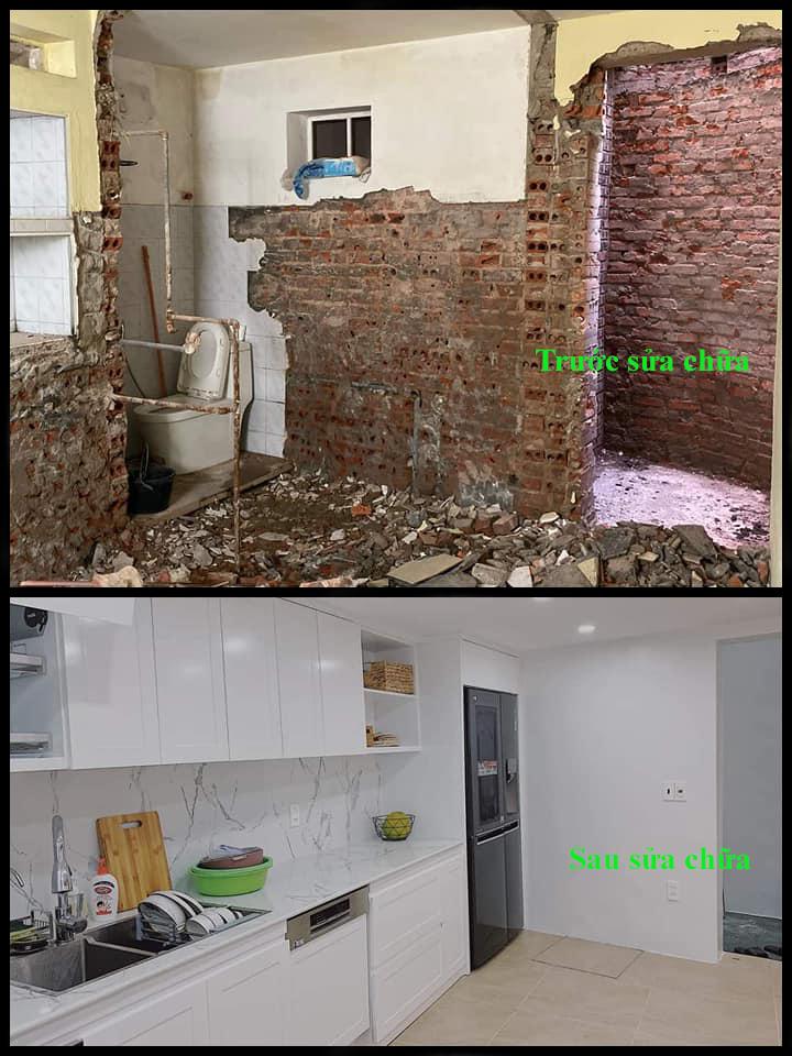 ảnh trước và sau khi sửa chữa nhà tại tphcm