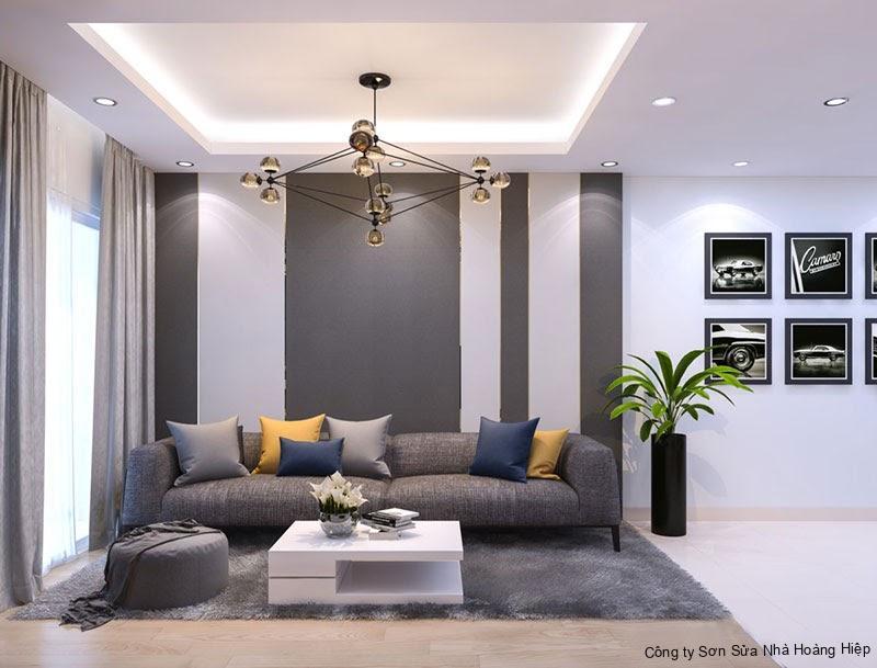 Ưu tiên chọn gam màu sáng cho phòng khách hiện đại