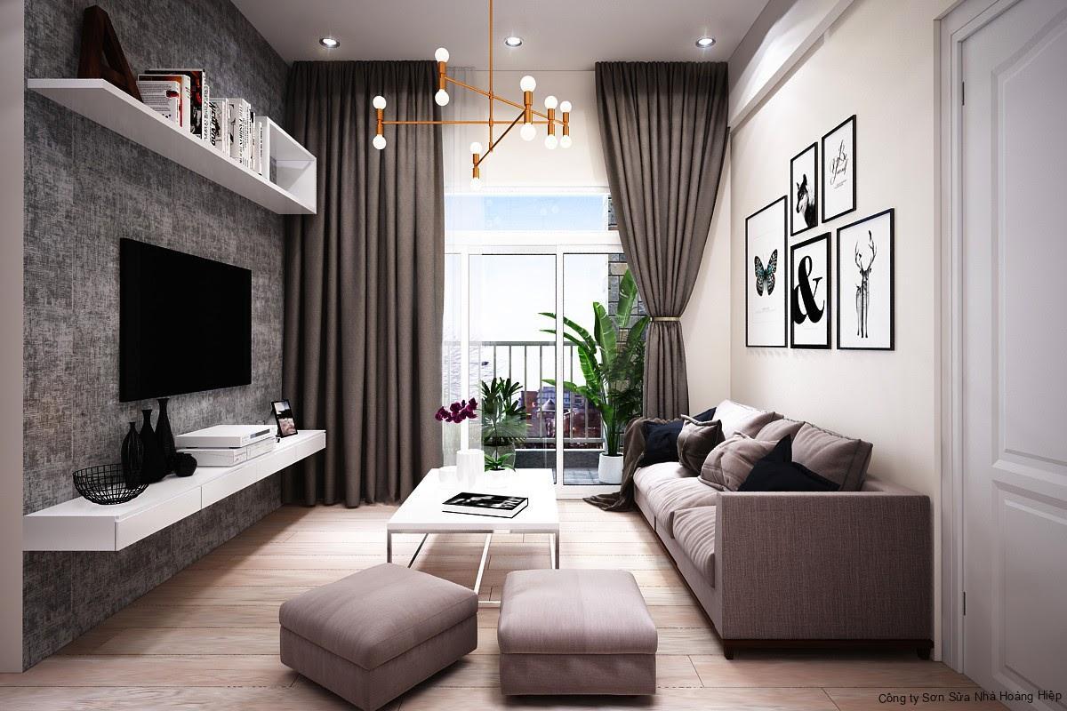 Tối ưu ánh sáng phòng khách với cửa ban công kính