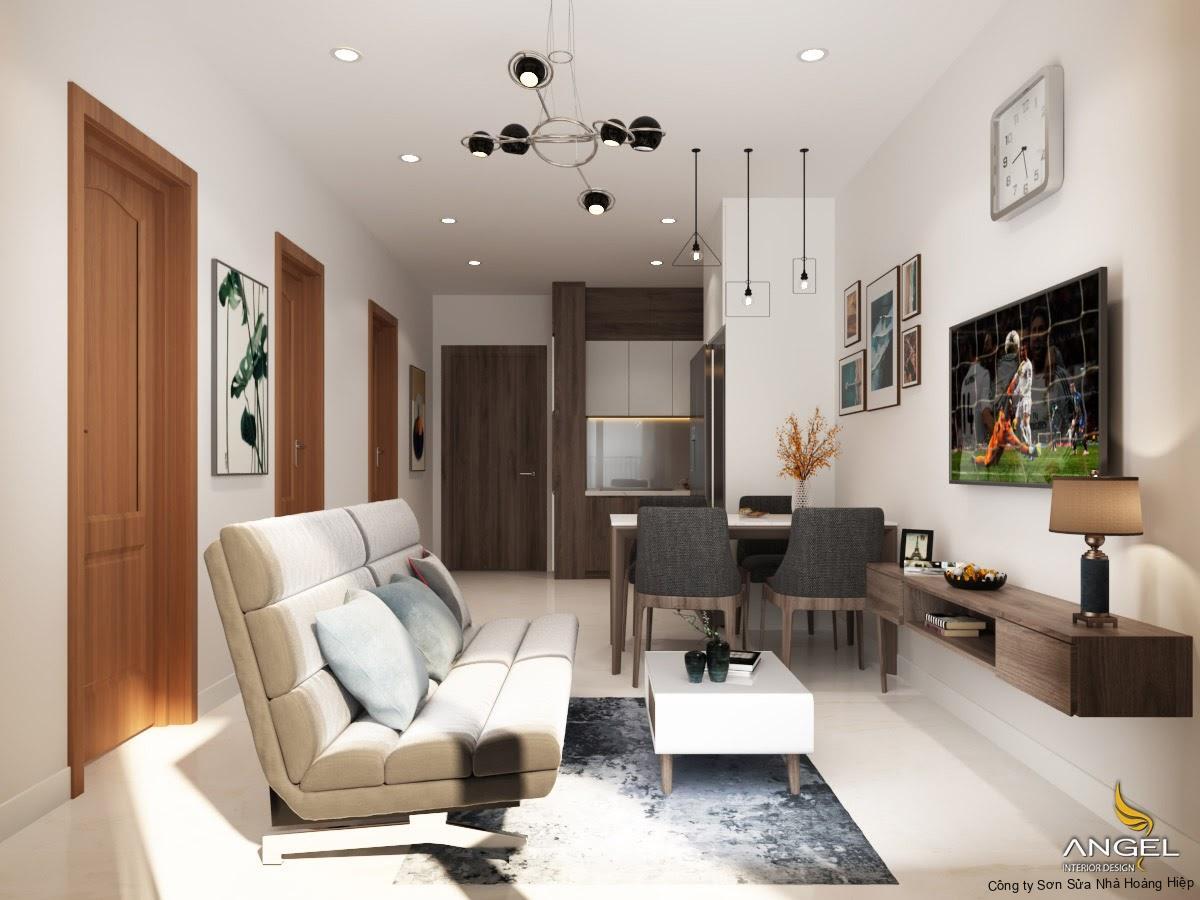 Tạo sự xuyên suốt cho không gian với ý tưởng nội thất phòng khách liền bếp