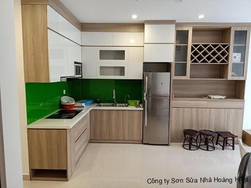 Tủ bếp chữ L cho căn bếp có diện tích lớn