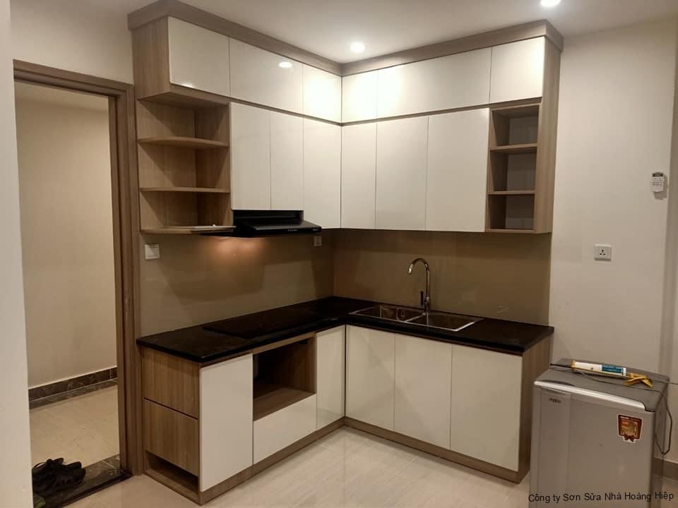 Thi công nội thất phòng bếp nhỏ gọn đơn giản